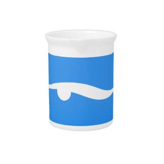 swim_in_Blue2Swimming logo on T-shirt Drink Pitcher