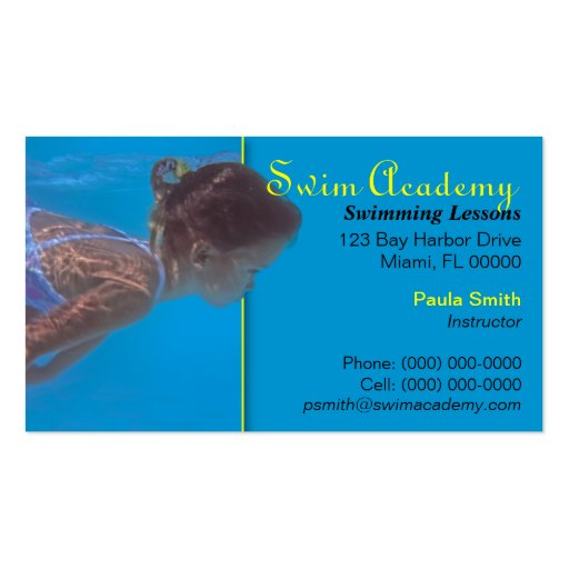 Swimming Pool Service Business Cards : Swimming pool maintenance business card templates