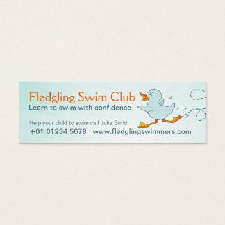 Swim instructor skinny business promotion card