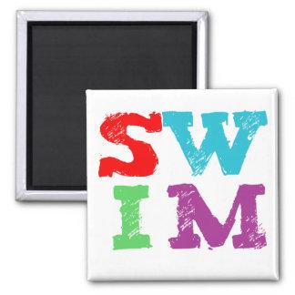 SWIM letters 2 Inch Square Magnet