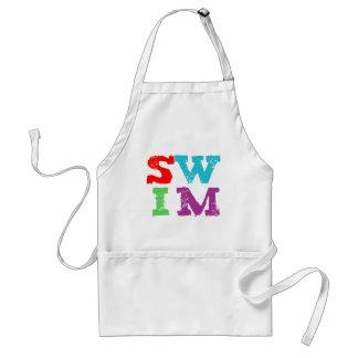 SWIM letters Adult Apron