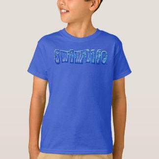 Swim life blue tee