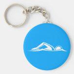 Swim Logo Keychain Blue
