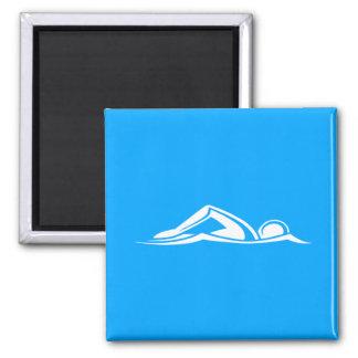 Swim Logo Magnet Blue