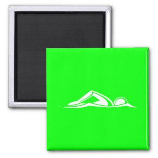 Swim Logo Magnet Green