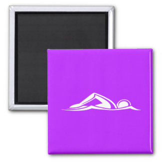 Swim Logo Magnet Purple