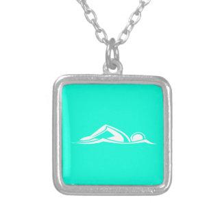Swim Logo Necklace Turquoise