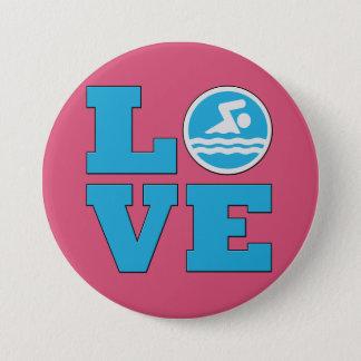 Swim Love Custom Color Pin for Swim Fans