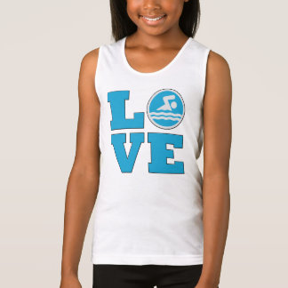 Swim Love For Competitive Swimmers or Coaches Tank Top