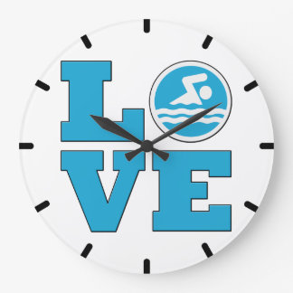 Swim Love Wall Clock