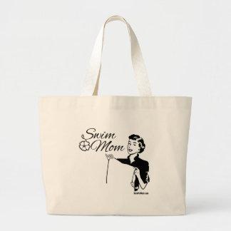 Swim Mom Large Tote Bag