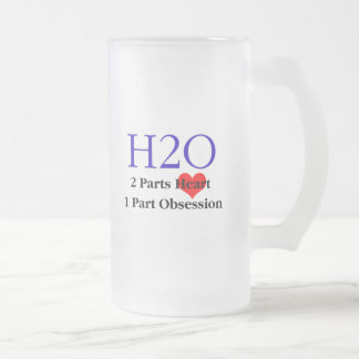 Swim Obsession Frosted Glass Beer Mug