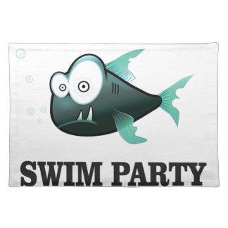 swim party crazy cloth placemat