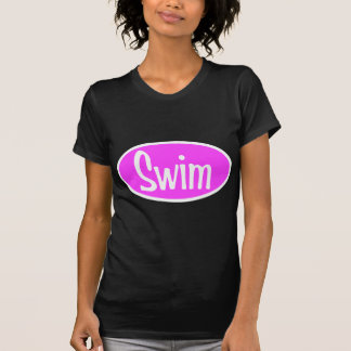 Swim pink oval T-Shirt