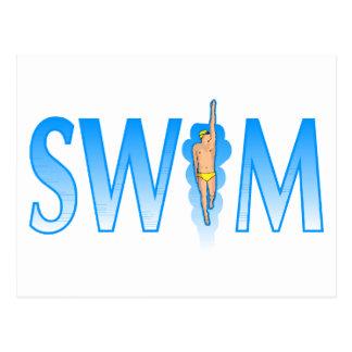 Swim Postcard