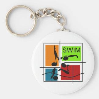 Swim Quartet Keychain