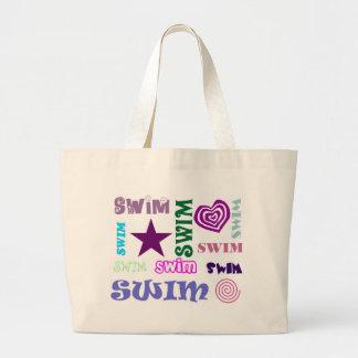 Swim Repeating Canvas Bag