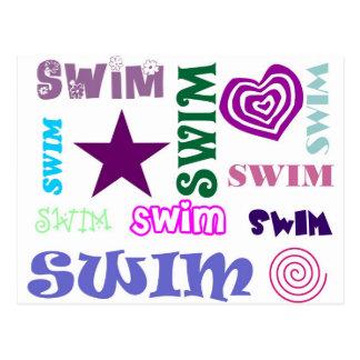 Swim Repeating Post Cards