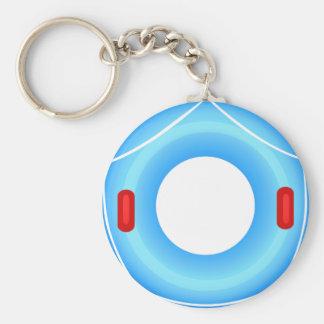 Swim Ring Icon Button Keychain