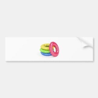 Swim rings bumper sticker