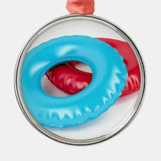Swim rings metal ornament