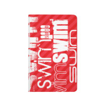 Swim; Scarlet Red Stripes Journal
