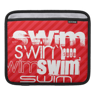 Swim; Scarlet Red Stripes Sleeve For iPads