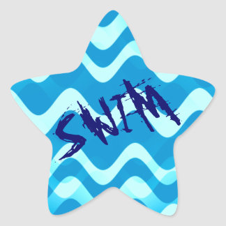 SWIM STAR STICKER