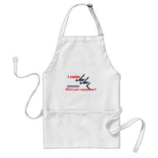 Swim super power adult apron