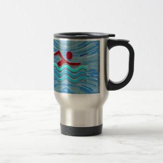 SWIM Swimmer Love Heart Pink Red Pool NVN695 FUN Coffee Mugs