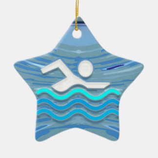 SWIM Swimmer Success Dive Plunge Success NVN238 Christmas Ornaments