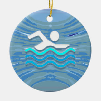 SWIM Swimmer Success Dive Plunge Success NVN238 Christmas Tree Ornament