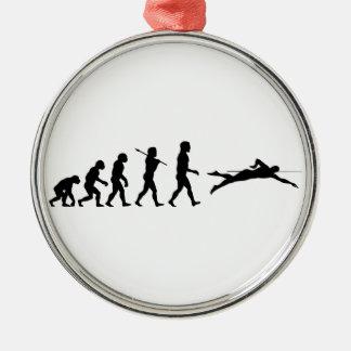 Swim Swimming Sport Evolution Christmas Ornaments