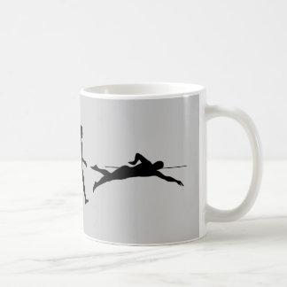 Swim Swimming Sport Evolution Classic White Coffee Mug