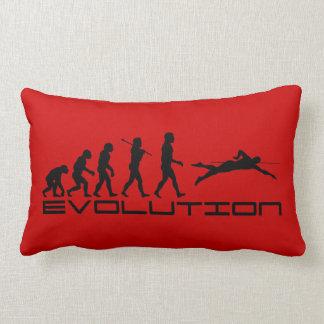 Swim Swimming Swimmer Sport Evolution Art Lumbar Pillow