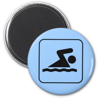 Swim Symbol Magnet