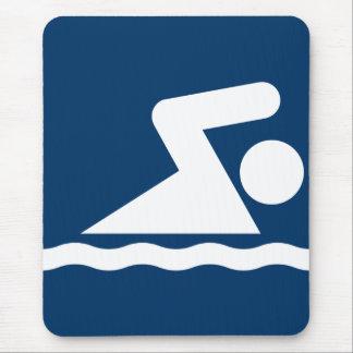 Swim Symbol Mousepad