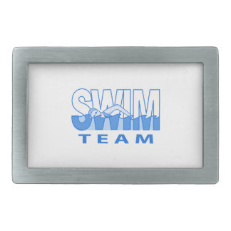 SWIM TEAM RECTANGULAR BELT BUCKLES