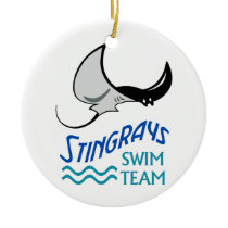 Swim Team Ceramic Ornament
