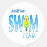 Swim Team Classic Round Sticker