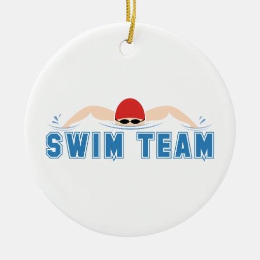 Swim Team Double-sided Ceramic Round Christmas Ornament