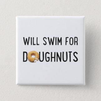 Swim Team, Funny swimmer gift, doughnuts Button