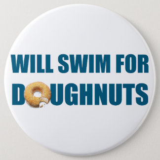 Swim team gift, funny, swimming doughnuts button