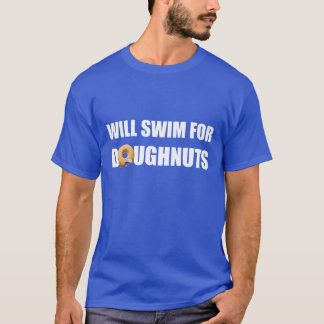 Swim Team, swimming, funny doughnuts. custom T-Shirt