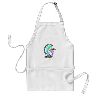Swim With Dolphins Adult Apron