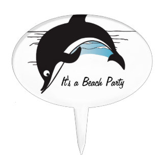Swim With Dolphins Cake Topper