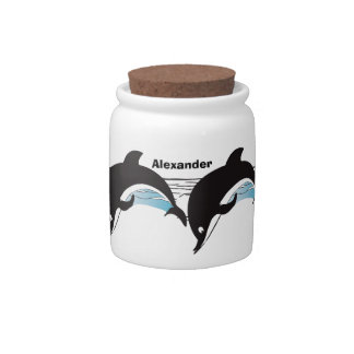Swim With Dolphins Candy Jars