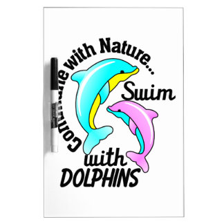 Swim With Dolphins Dry Erase Board