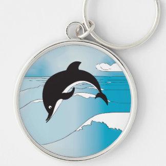 Swim With Dolphins Keychain
