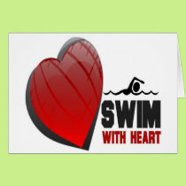 SWIM WITH HEART CARD
